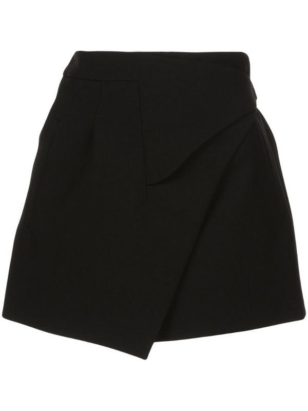 WARDROBE.NYC x The Woolmark Company Release 05 wrap mini skirt in black