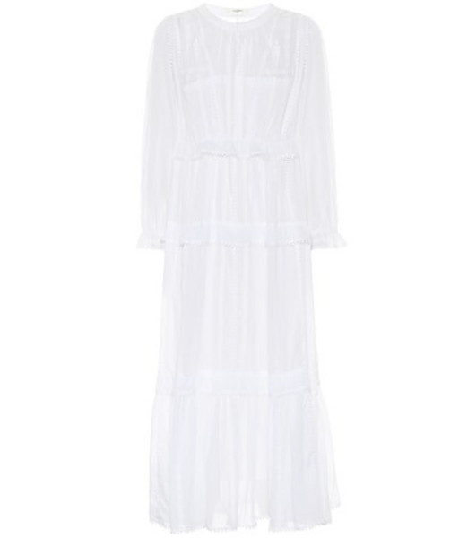 Isabel Marant, Étoile Aboni embroidered cotton dress in white