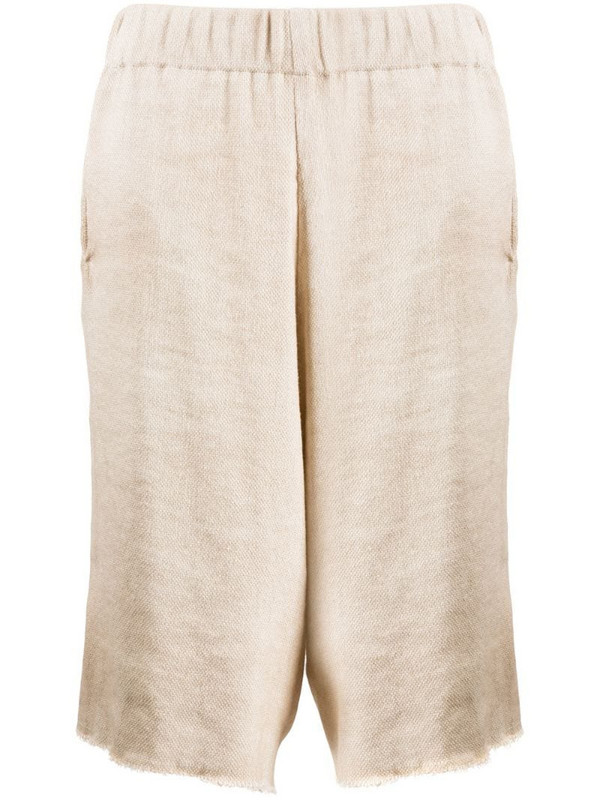 Avant Toi oversized knee-length shorts in neutrals
