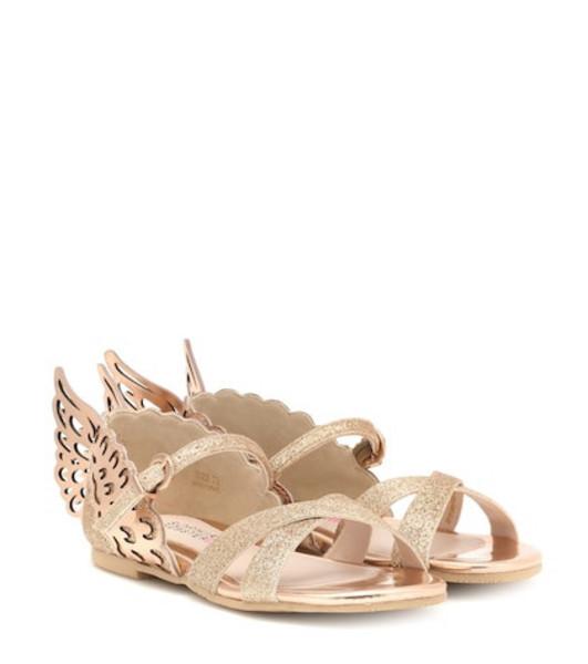 Sophia Webster Mini Evangeline glitter sandals in gold