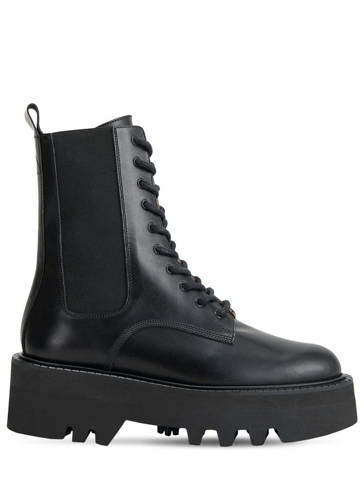 ATP ATELIER 55mm Pesaro Leather Combat Boots in black