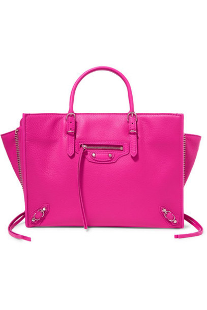 Balenciaga - Papier A6 Small Textured-leather Tote - Pink