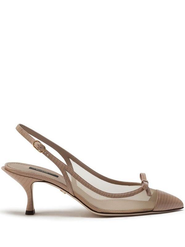 Dolce & Gabbana bow-detail 60mm pumps in neutrals