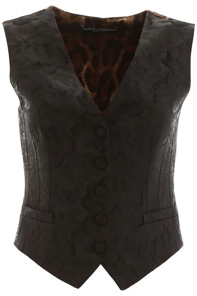 Dolce & Gabbana Jacquard Vest in black