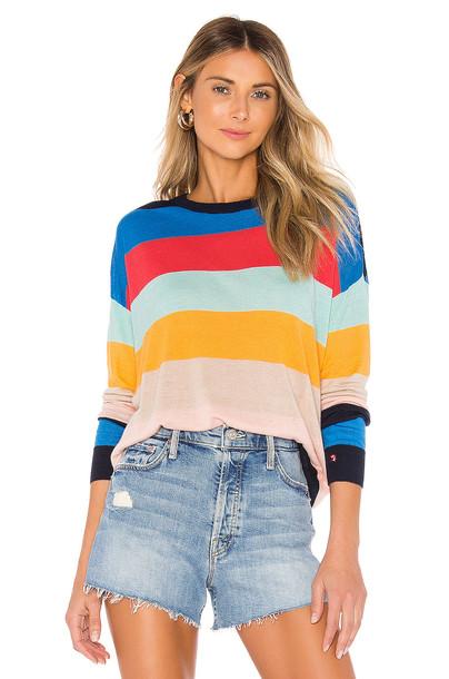 Splendid x Gray Malin Sunray Sweater in blue