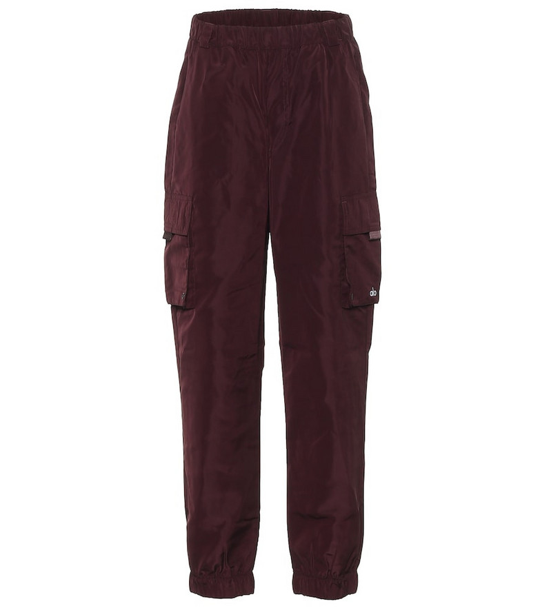 Alo Yoga It Girl track pants in red
