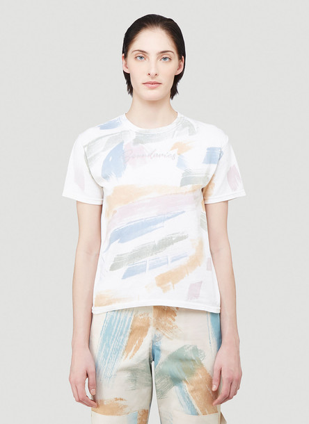 Collina Strada Paint Print T-Shirt in White size XS