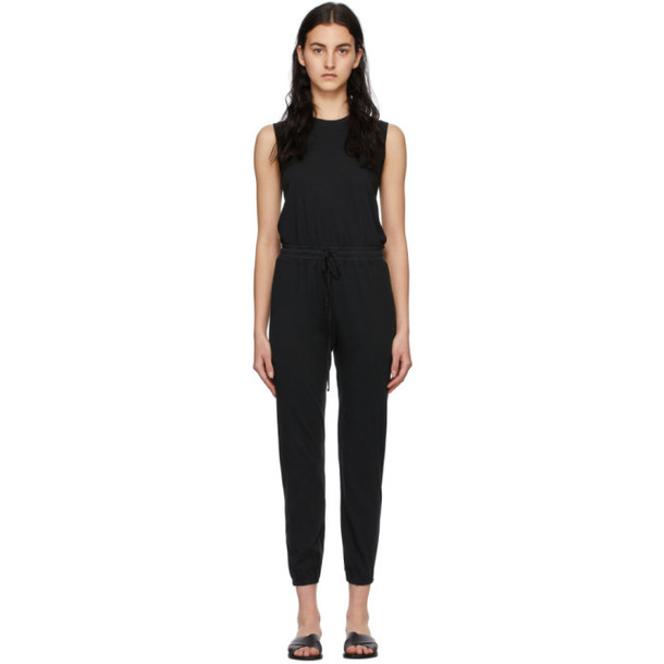Raquel Allegra Black Classic Jersey Jumpsuit