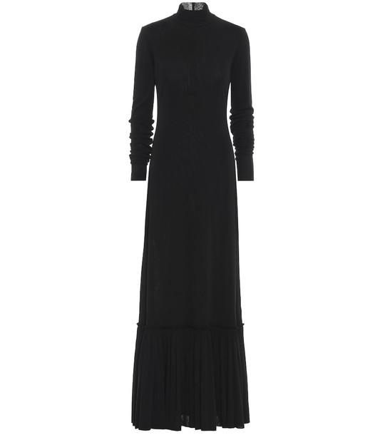 Jil Sander Mockneck maxi dress in black