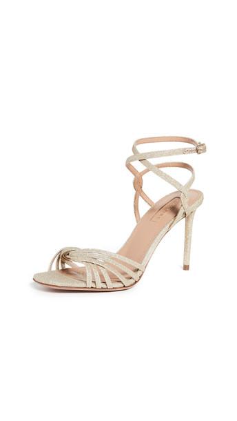 Aquazzura 85mm May Sandals in gold