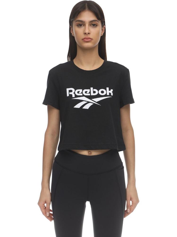 REEBOK CLASSICS Cl F Big Logo Cotton Jersey T-shirt in black