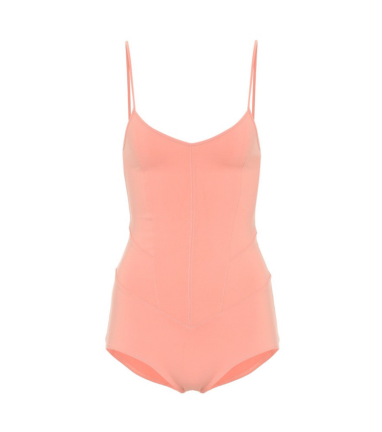Live The Process Corset bodysuit in pink