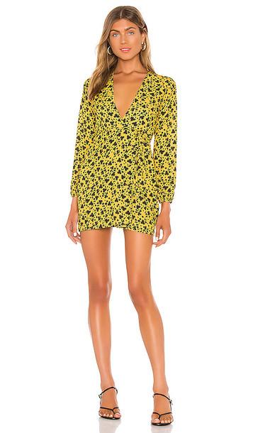 RESA Cameron Mini Dress in Yellow