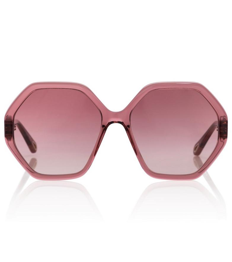 Chloé Esther hexagonal sunglasses in orange