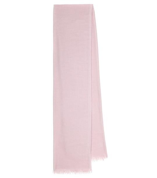Brunello Cucinelli Cashmere and silk scarf in pink