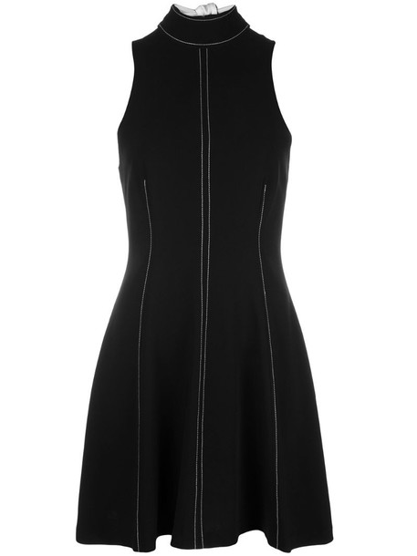 Cinq A Sept Angie high-neck A-line dress in black