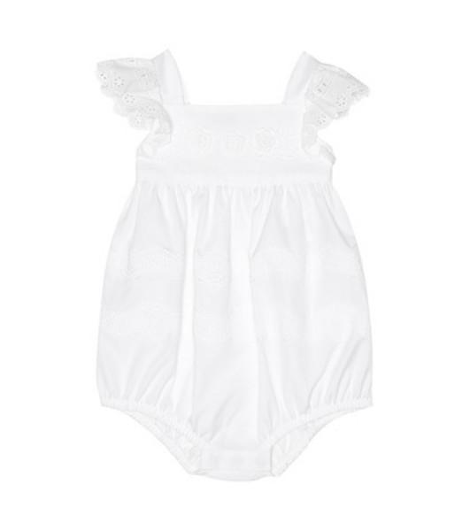 Dolce & Gabbana Kids Baby cotton playsuit in white