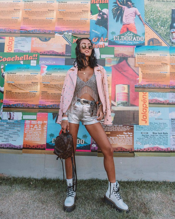 shorts silver High waisted shorts white boots lace up boots bra fringe bikini louis vuitton bag backpack leather jacket