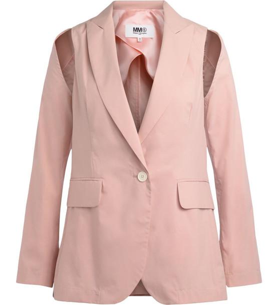 Mm6 Maison Margiela Pink Blazer
