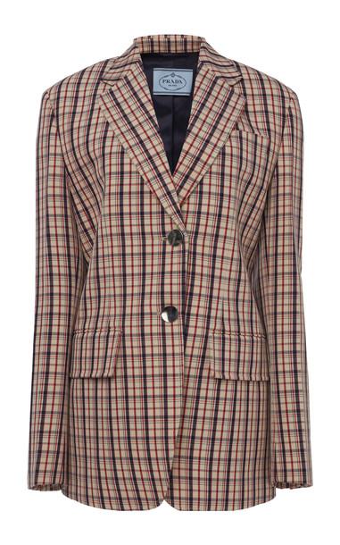 Prada Checked Wool Blazer