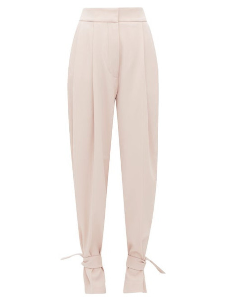 Petar Petrov - Heram High Rise Pleated Wool Trousers - Womens - Pink