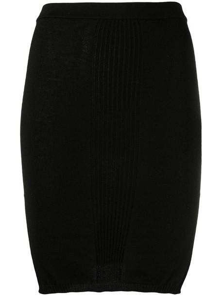 Rick Owens high-waist knit mini skirt in black