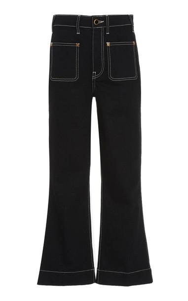 Khaite Raquel High-Rise Flared Jeans Size: 24