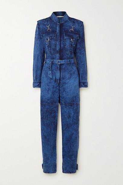 STELLA MCCARTNEY - Acid-wash Denim Jumpsuit - Blue