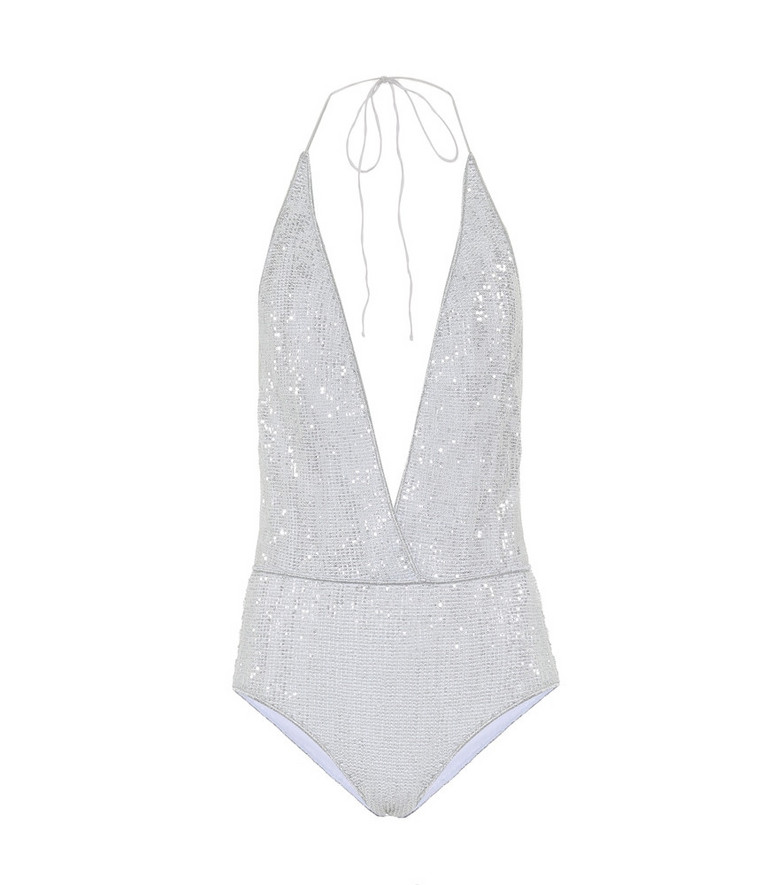 Oséree Exclusive to Mytheresa – Paillettes swimsuit in silver