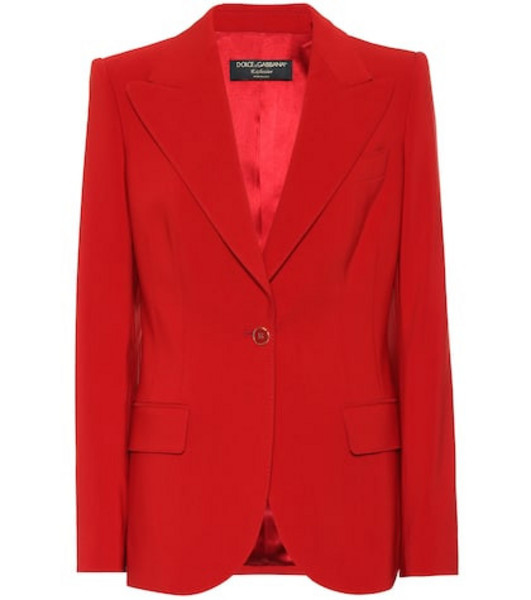 Dolce & Gabbana Exclusive to Mytheresa – cotton-blend blazer in red