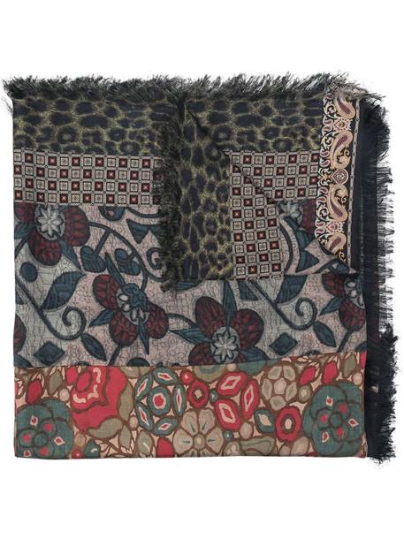 Pierre-Louis Mascia Aloeuw patchwork silk scarf in black