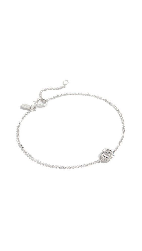 Adina Reyter Pavé Interlocking Loop Bracelet in silver