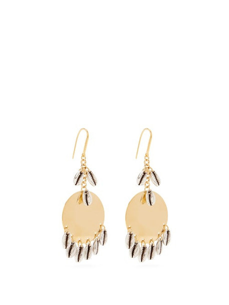 Isabel Marant - Shell Charm Brass Earrings - Womens - Silver