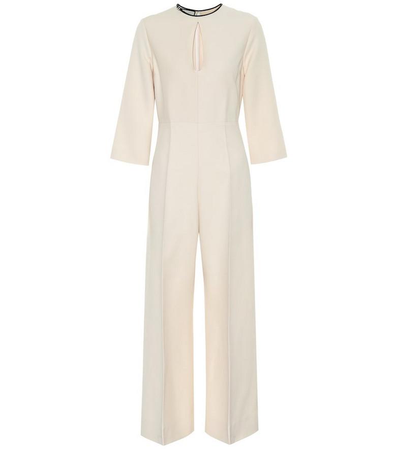 Gucci Silk-blend jumpsuit in beige