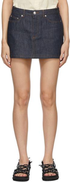 A.P.C. A.P.C. Indigo Denim Miniskirt