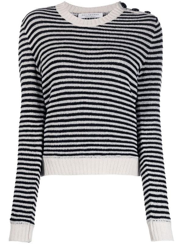 Philosophy Di Lorenzo Serafini striped cashmere jumper in black