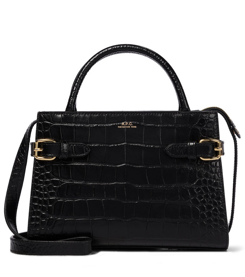 A.P.C. Farrah Mini leather shoulder bag in black