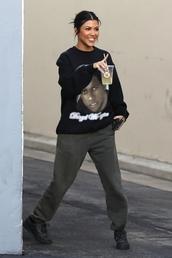 pants,kourtney kardashian,kardashians,celebrity,casual,streetstyle