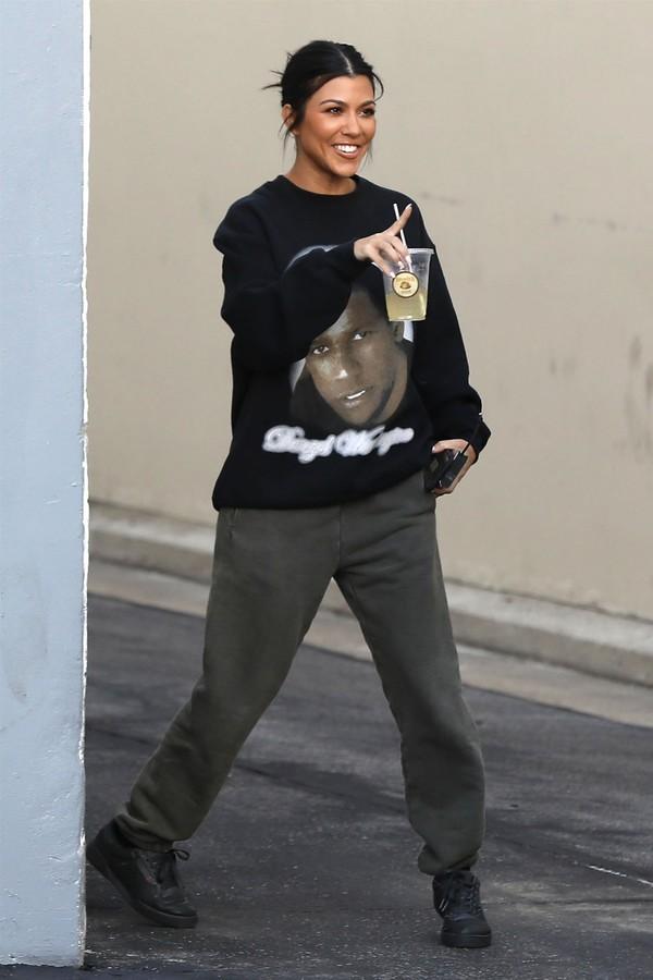 pants kourtney kardashian kardashians celebrity casual streetstyle