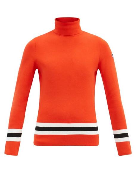Fusalp - Judith Roll-neck Striped Sweater - Womens - Red