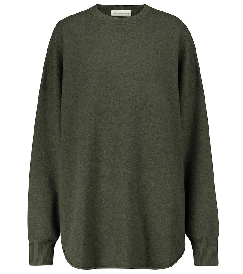 Extreme Cashmere N° 53 Crew Hop cashmere-blend sweater in green