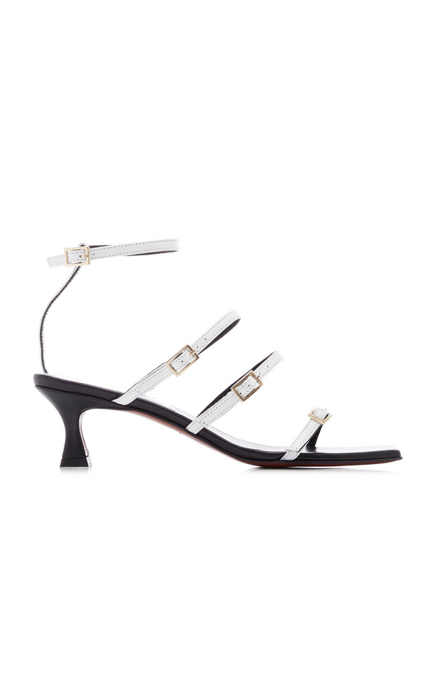 Manu Atelier Naomi Leather Sandals in white