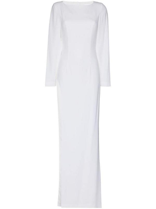Mônot open-back maxi dress in white