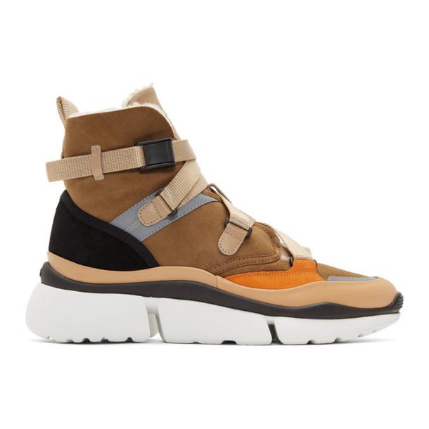 Chloe Brown Sonnie High-Top Sneakers