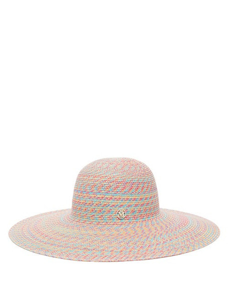 Maison Michel - Blanche Straw Hat - Womens - Pink Multi