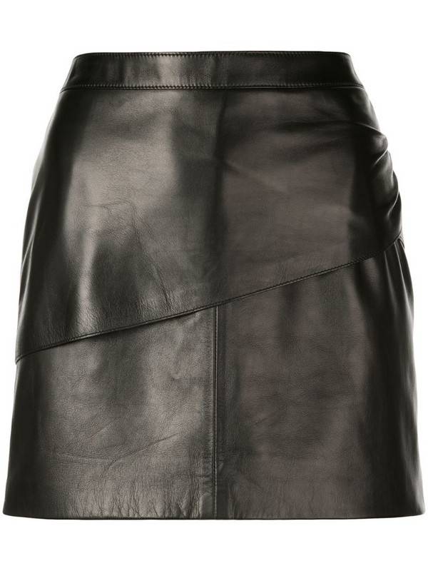 Givenchy mini leather skirt in black