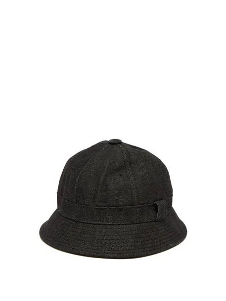 Acne Studios - Denim Bucket Hat - Womens - Black