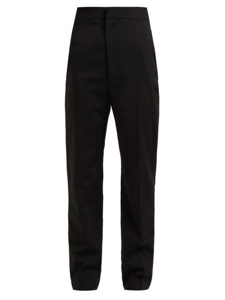 Haider Ackermann - High Rise Wool Blend Trousers - Womens - Black