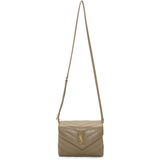 Saint Laurent Taupe Toy Loulou Bag