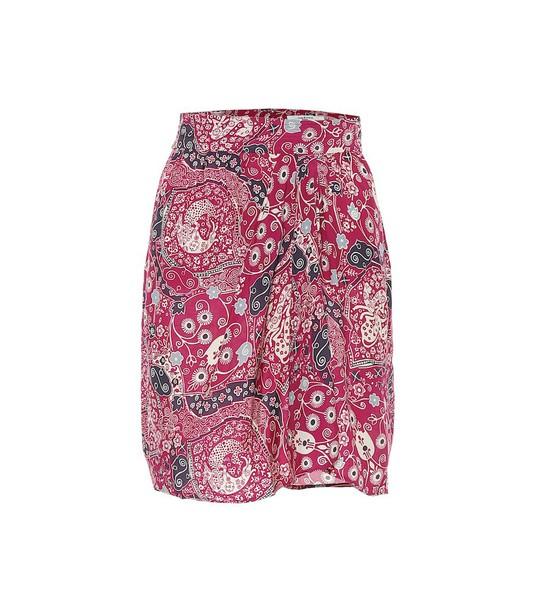 Isabel Marant, Étoile Cegart paisley-print miniskirt in pink